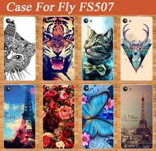 Beautiful Rose Flower Painted Case For Fly Cirrus 4 FS507 Newest Popular Cover Brilliant Patterns For Fly FS507 case cover Shell
