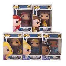9 Style Princess FUNKO POP Beauty and The Beast Belle Ariel Rapunzel Cinderella Tiana Hello Kitty Action Figures Elsa PVC Model
