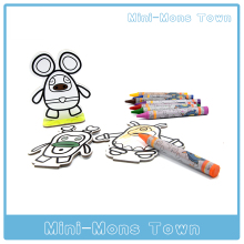 Kids 4D AR Card Painting Toy Mini Monster Town Reality baby Learning Toy Educational Game Kit English Drawing Board for children(China)