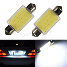 Promotin White 41MM 12 Chips COB C5W Car Auto Festoon Dome Interior LED Lights Lamp Map Roof Reading Bulb DC12V(China)