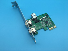 PCIe IEEE 1394a Firewire Controller Card (2 External + 1 Internal Port) w/ Cable