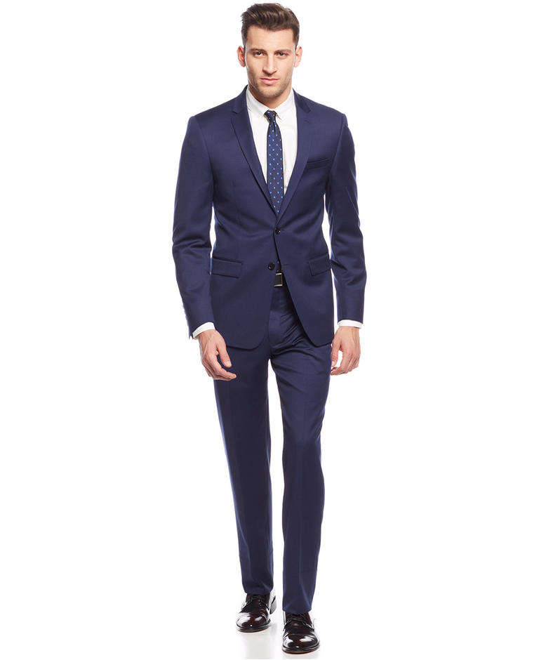 Online Get Cheap Formal Pant Suits for Weddings Navy Blue ...