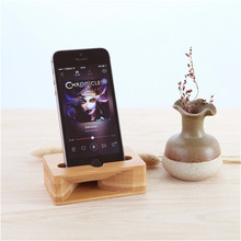 Universal Multifunction Wooden Mobile Phone Holder Amplifier Mobile Bracket Lazy Stand For Under 5.5 Inch Smartphone For IPhone(China)