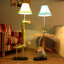 Standing Lamps For Living Room Decoration lamp Fabric Animated Crocodile Bird  Elephant Children lamp Floor Led Lamp