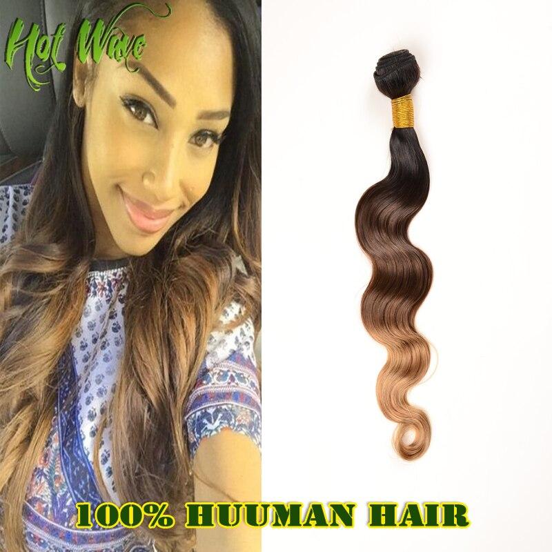 Hot Wave Unprocessed 6A Virgin Brazilian Hair 4Bundles Ombre Body Wave Brazilian Human Hair Extensions Remy Ombre Virgin Hair<br><br>Aliexpress