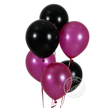 10pcs/lot 3.2g Pear latex Light Purple black Latex Balloon Birthday Party Wedding Decoration Ballons inflatable balls globos