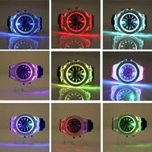 Student Luminous Light-emitting LED Fashion Campus Silicon Diamond Jelly Watch Women and Men LL
