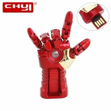 CHYI Cool Right Hand Design USB Flash Drive U Disk 32GB Pendrive Metal Memory Stick 4GB 8GB 16GB 64GB Pen Driver For Gift(China)