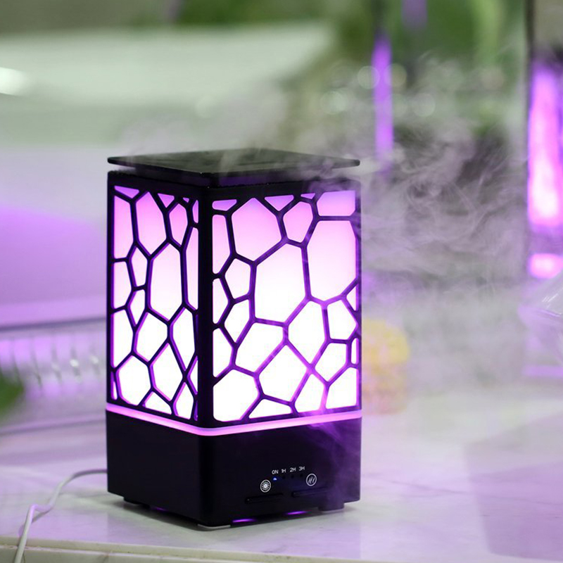 Top Sale Essential Oil Diffuser 200ml Aromatherapy Humidifier Cool Mist Ultrasonic Aroma Diffuser with 7 Color Romantic Warm L<br>
