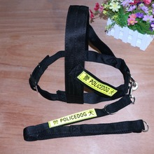 Reflective Police Service Dog Harnesses pet harnesses Pet Training Vest Large dog 2 color free shipping