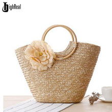 Spring Handmade Knitting Bags Original Brand Top Handle Bag Fashion Ladies Handbag Straw Beach Tote Handbag Shopping Bag(China)