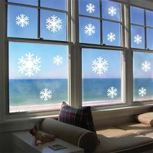 & Christmas white Snowflakes Sticker Windows Glass cabinet Wall stickers New Year home decoration Wall Stickers Wallpaper