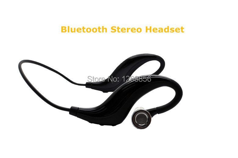 2 pcs/lot, Free shipping Black Sports Bluetooth Stereo headset Handsfree earphone Water resistant Sweatproof Headphone<br><br>Aliexpress