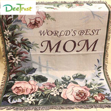 Mother's Day Gift Cotton American Style Rose Thicken Flower Blanket for Mom Throw on Sofa/Bed Blanket Table/ Piano Cover(China)
