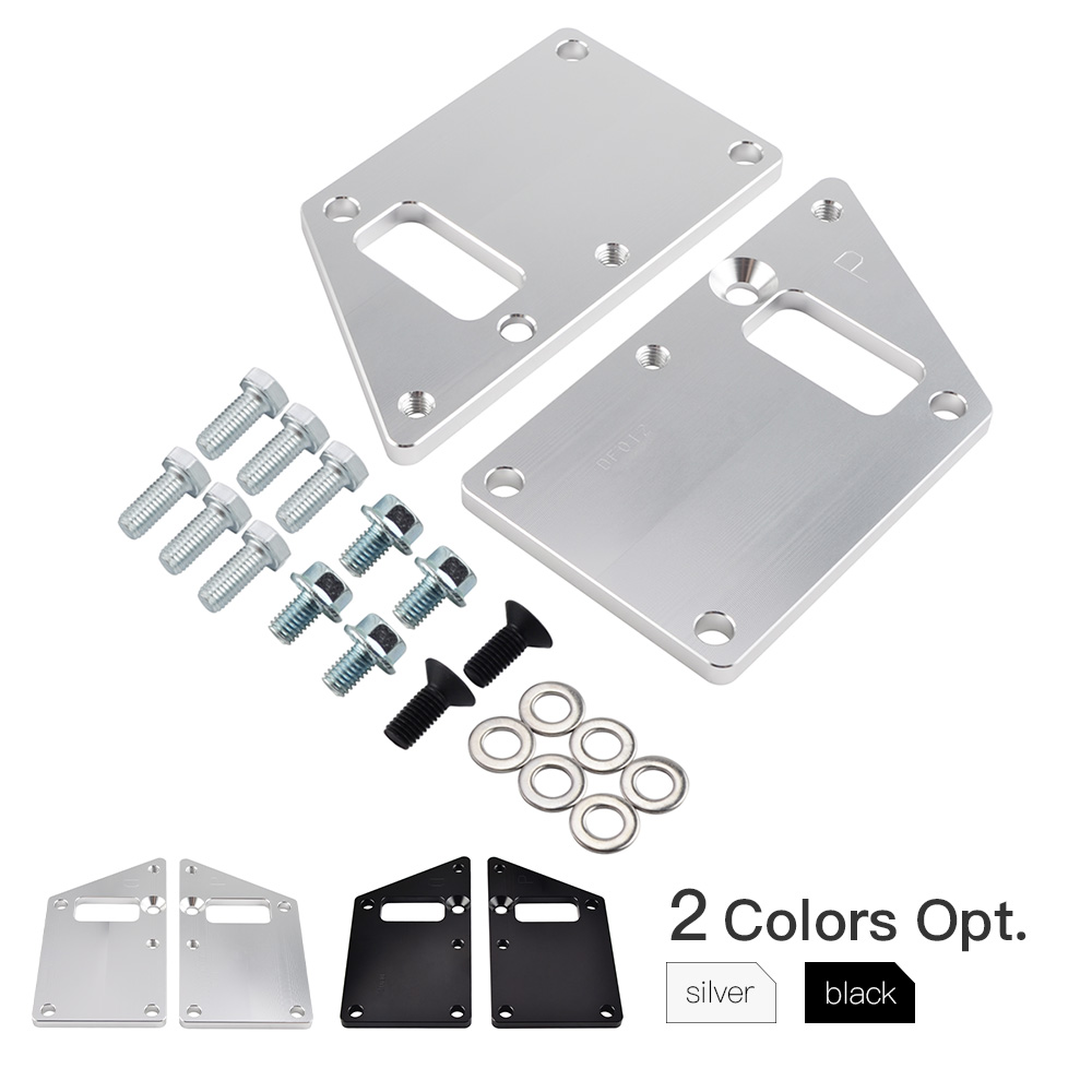 Car LS1 Conversion LS Swap Motor Mount Adapter Plates Kit For Chevrolet Camaro Chevelle Impala For Chevy 97-13 LSX Engine AL-12