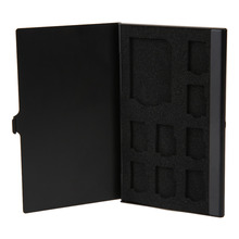 Portable Monolayer Aluminum 1SD+ 8TF Micro SD Cards Pin Storage Box Case Holder Memory Card Storage Cases Black(China)