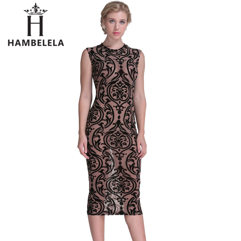 HAMBELELA Black Blue Wine Red Sexy Midi Velvet Dresses Women Sheer Mesh Floral Bodycon Dress Elegant Casual Latex Bandage Dress