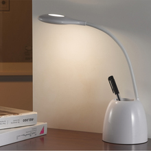 Brightness Touch Sensor LED Desk Lamp with Adjustable Table Lamp for Home Reading Studying Working(China)