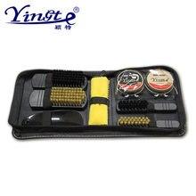 9 unids set herramienta profesional de cuidado de zapatos de cuero portátil  brillo pulido juego de limpieza cepillo de limpieza . b736d3c5b636