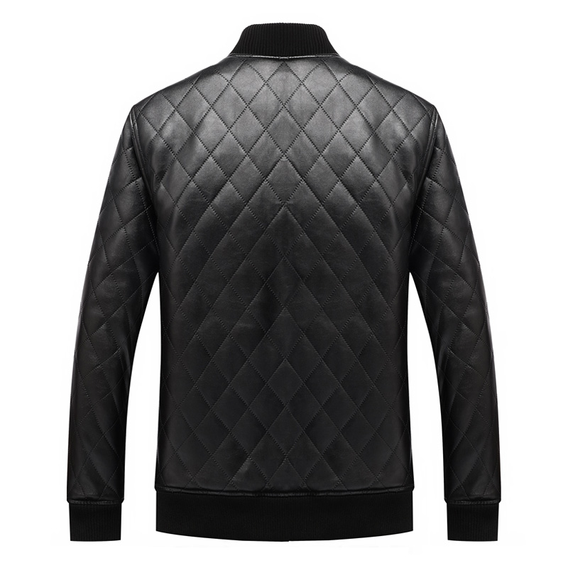 mens leather winter bomber jacket fur 03