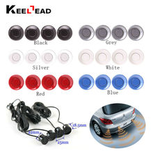Free shipping 4pcs Assistance Reversing Radar Rrobe Parking Sensors black blue gray red white silver For all car