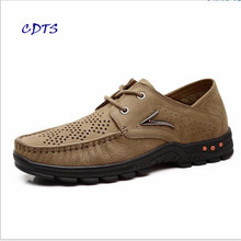 2017 high quality Comfortable genuine leather men Peas shoe Deodorant And Breathable male Soft-bottom Zapatos Antiskid
