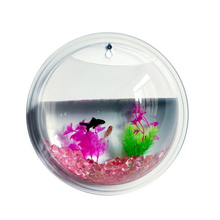 New Fashion Plants Wall Mounted Hanging Bubble Acrylic Bowl Fish Tank Aquarium Home Decoration(22.5X12cm)