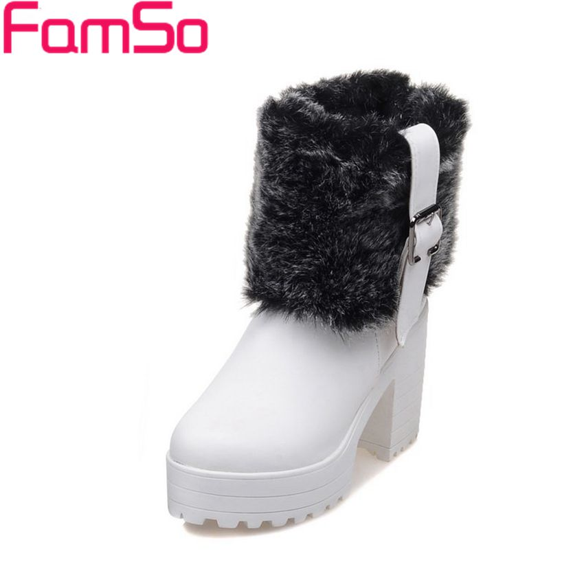Plus Size34-43 2017 new Sexy Women Boots Black High Heels Platforms Riding Boots tassel Winter Snow Boots SBT3091<br><br>Aliexpress