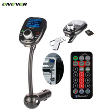 New 5 in 1 LCD Dispaly Bluetooth FM Transmitter car charger USB MP3 bluetooth handsfree car kit speaker for iPhone smarpthones(China)