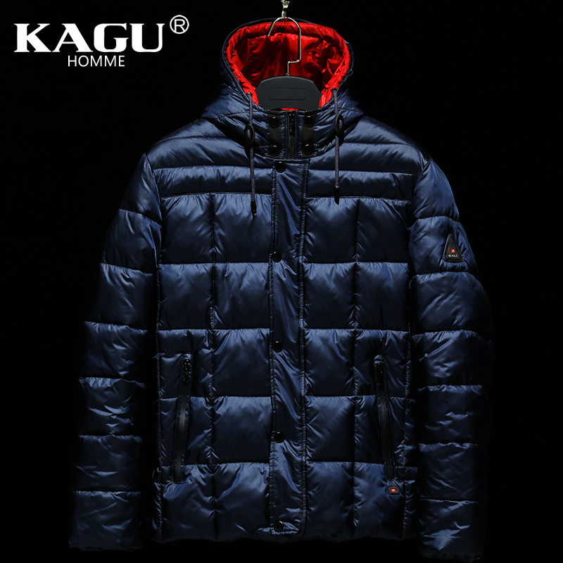 KAGU Brand New 2017 Winter Cotton Mans Thicken Zippers Down Jacket Coats Hood Parka European Size Free Shipping 4312004Одежда и ак�е��уары<br><br><br>Aliexpress