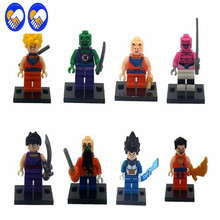 A Toy A Dream 8pcs JR265 Dragon Ball Z Figure Son Goku/Vegeta/Master Roshi/Krillin Models Children Gifts Toy Building Block Drop
