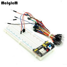 MCIGICM MB102 830 Point Solderless PCB Breadboard with 65pcs Jump Cable Wires and Power starter kit Free shipping(China)