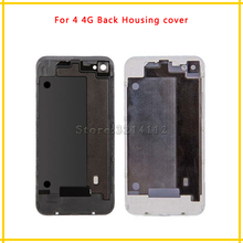 DHL 50Pcs/lot Back Housing cover Battery Cover Rear Door Chassis Frame For iphone 4 4G 4S Replace parts Free shipping(China)