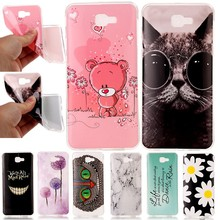Cute Bear Cat Dreaming Phone Cases For Samsung Galaxy J7 Prime J7prime J5prime J5 Soft Silicon Cover Case Capinha Coque Smile