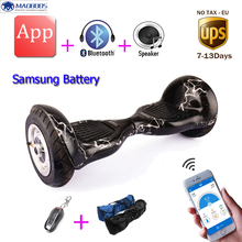 Hot mobile APP Self Balance Electric Scooter Samsung battery Standing Smart Skateboard Hover board electric balance hoverboard