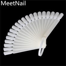 20 Pcs Practical Fan Nail Polish Display Art New DIY Gel Color Palette Nails Color Card Manicure Makeup Tools(China)