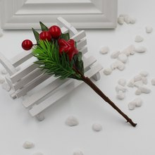 2017 Hot Artificial Stamens Flowers Branch Pearls Mixed Berries DIY Decorative Decorative Wedding Party Christmas Gift Box(China)
