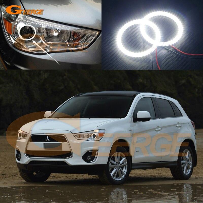 For Mitsubishi ASX 2010 2011 2012 2013 2014 2015 2016 Excellent led Angel Eyes Ultra bright illumination smd led Angel Eyes kit<br>