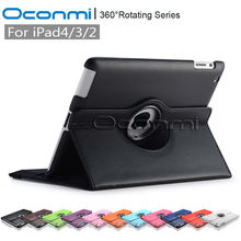 360 Rotating PU Leather cover case for Apple iPad 2 3 4 with stand function for iPad 3 protective sleeves Tablet cover