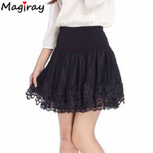 Buy 2017 Tulle faldas Curta Saia De Renda Femininas High Waist Short Lace Tutu Skirt Female Pleated Women Skirts saias jupe C157 for $10.73 in AliExpress store