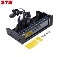 STW 4 Fans Speed Computer Fan Controller CPU Temperature Sensor Fans Cooling Drive Front LCD Panel CPU Temperature Controller