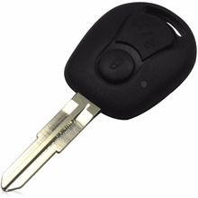 2 Buttons Remote Key Shell With Logo for Ssangyong Actyon Kyron Rexton Uncut Bblade Key FOB Cover Case Replacement