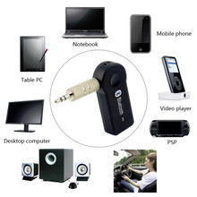 Wireless Car Bluetooth Receiver Adapter 3.5MM AUX Audio Stereo Music Hands-freeHome Car Bluetooth Audio Adapter *100set/lot(China)