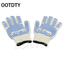 OOTDTY 540 F Heat Proof Resistant Mitt Ove Oven Glove Burn BBQ Fire Hot Surface Handler HXP001