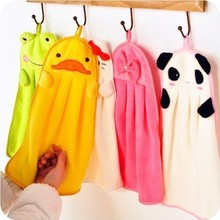 2016 New Cute Animal Microfiber Kids Children Cartoon Absorbent Hand Dry Towel Lovely Towel For Kitchen Bathroom Use(China)