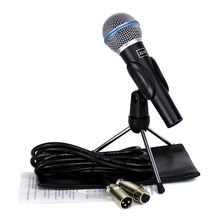 BETA 58A Vocal Mic Microfono Professional Wired Dynamic Microphone Stand & 3 Meter XLR Cable For BETA58A KTV Karaoke Mixer Audio(China)