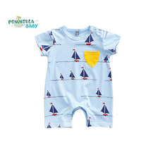 Summer Baby Rompers Cotton Short Sleeve Jumpsuit Newborn Boys Girls Clothes Toddler Infant Coverall Kids Clothing