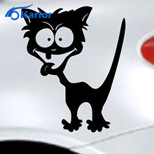 Car Styling Reflective Waterproof Vinyl Funny Crazy Cat Sticker Accessories BMW Mazda Peugeot ford focus mercedes toyota - Karlor Speciality Store store