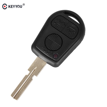 KEYYOU 3 Button Uncut Blade Car Key Replacement Remote Key Case Shell for BMW E31 E32 E34 E36 E38 E39 E46 Z3 Fob Uncut key case(China)