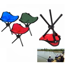 Aluminium Folding Picnic Barbecue Beach Camping Chair Garden BBQ Fishing Stool Tripod Lightweight Chair Seat